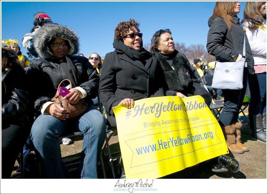 Million Women March for Endometriosis, EndoMarch 2014, Washington DC, Her Yellow Ribbon,
