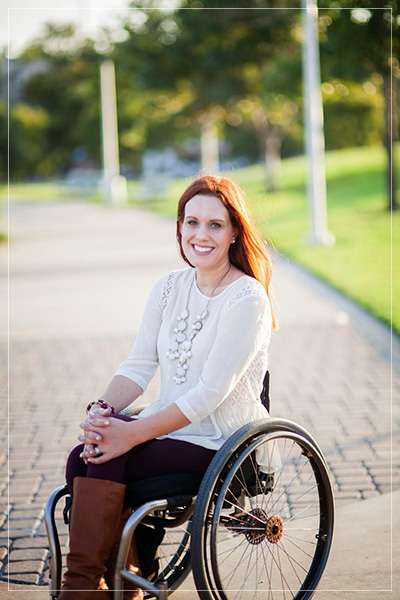 Inspirational Woman. Priscilla Hedlin. Wheelchair Mommy.