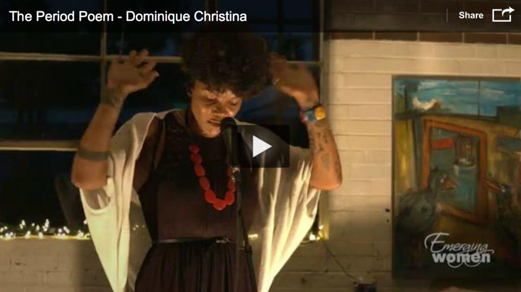 Dominique Christina. Period Poem